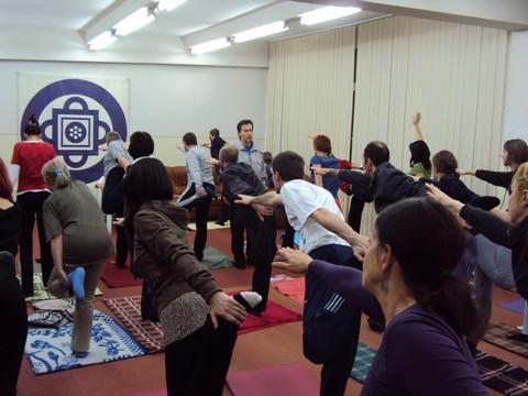 Yoga la sala Centrului Kamala - Brasov