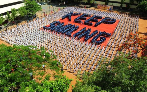 ndian schoolchildren participate in a yoga session at a school in Chennai on June 20, 2016, on the eve of International Yoga Day. 4001 schoolchildren participated in the demonstration. IMAGE: ARUN SANKAR/AFP/GETTY IMAGES